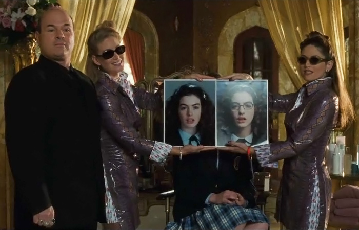 """Majesty , Paolo is exhausted because , Majesty , only  Paolo   can take  this  and  this  and give you a princess.  """"Princess Diaries,"""" 2001"""