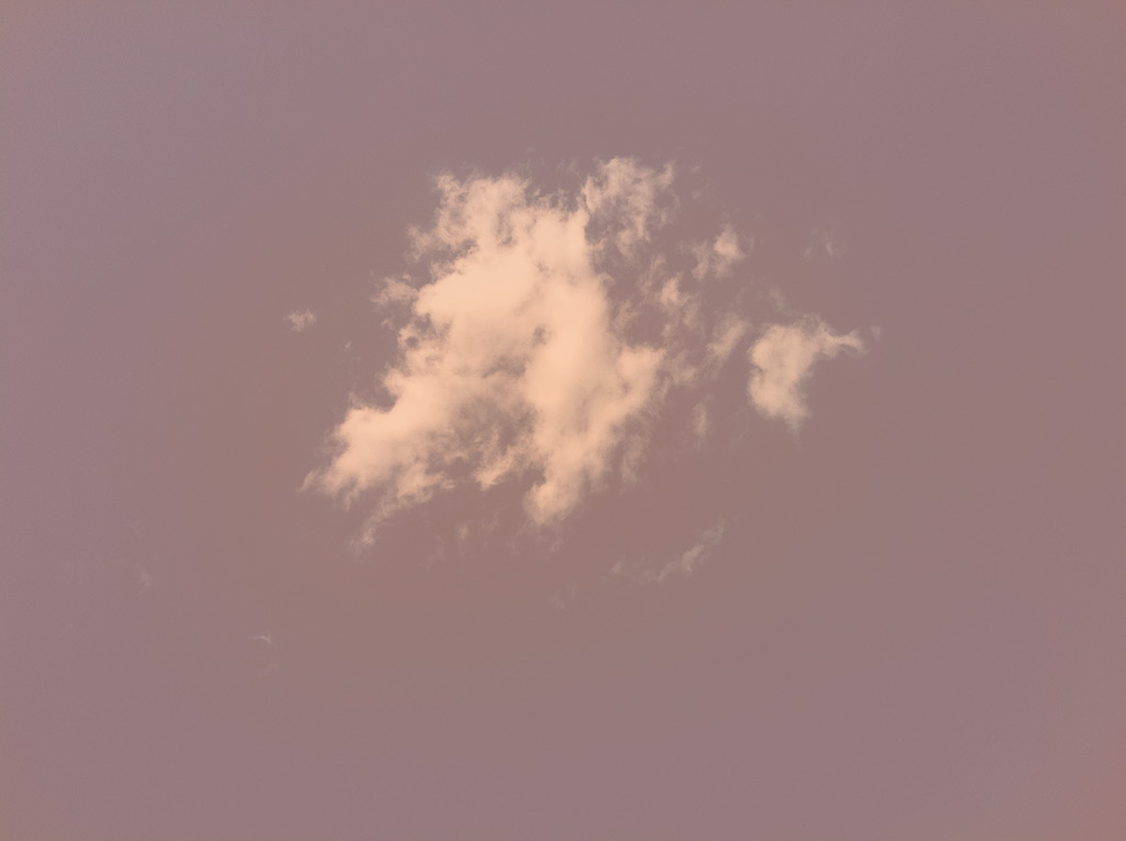 Untitled (family pictures); violet sky