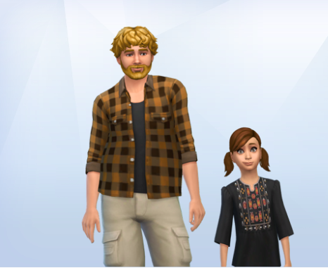 My dogs, Cardiff and Ramona as humans Sims