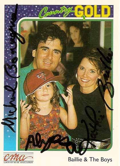 An old Country artist card from the 90s of me my mom and dad.jpg
