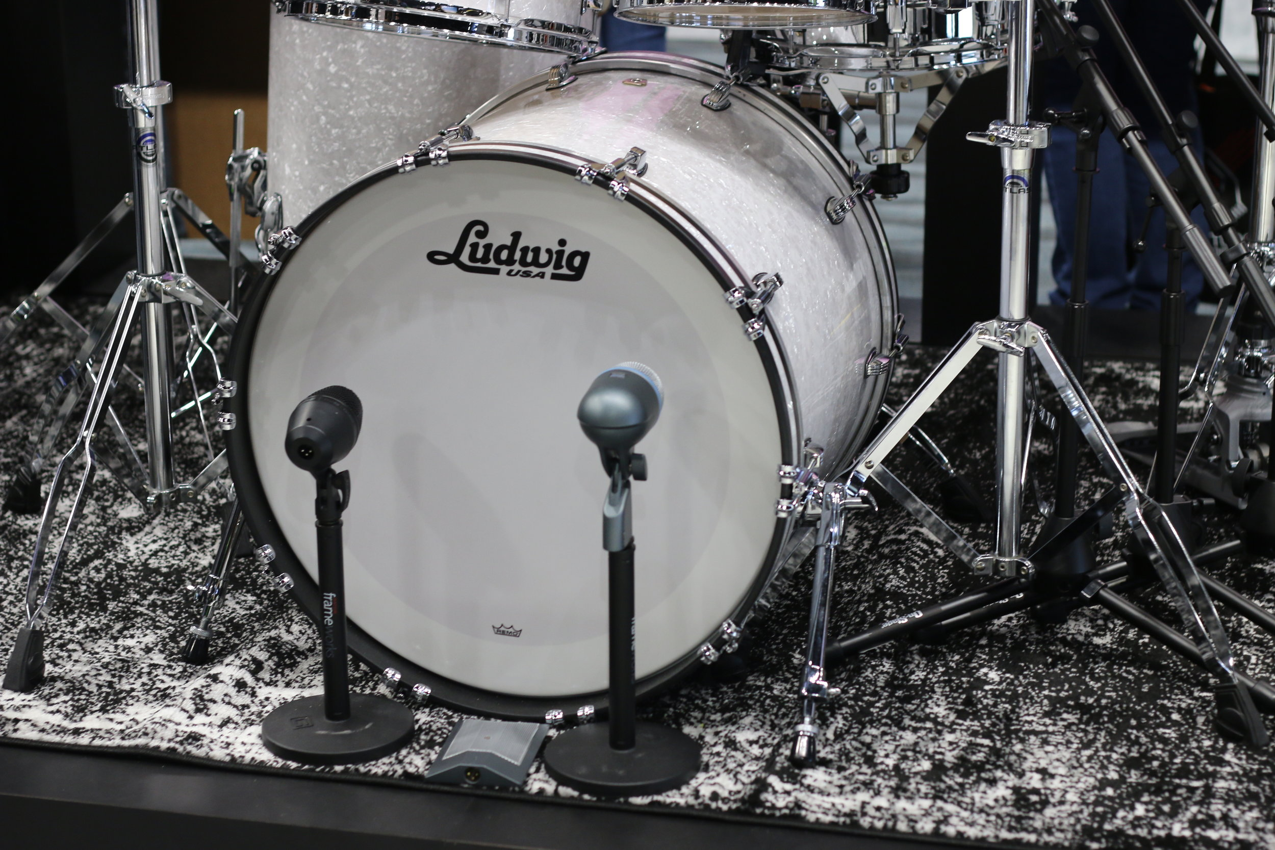 Ludwig Set NAMM 2018  Photo by Helen Velez