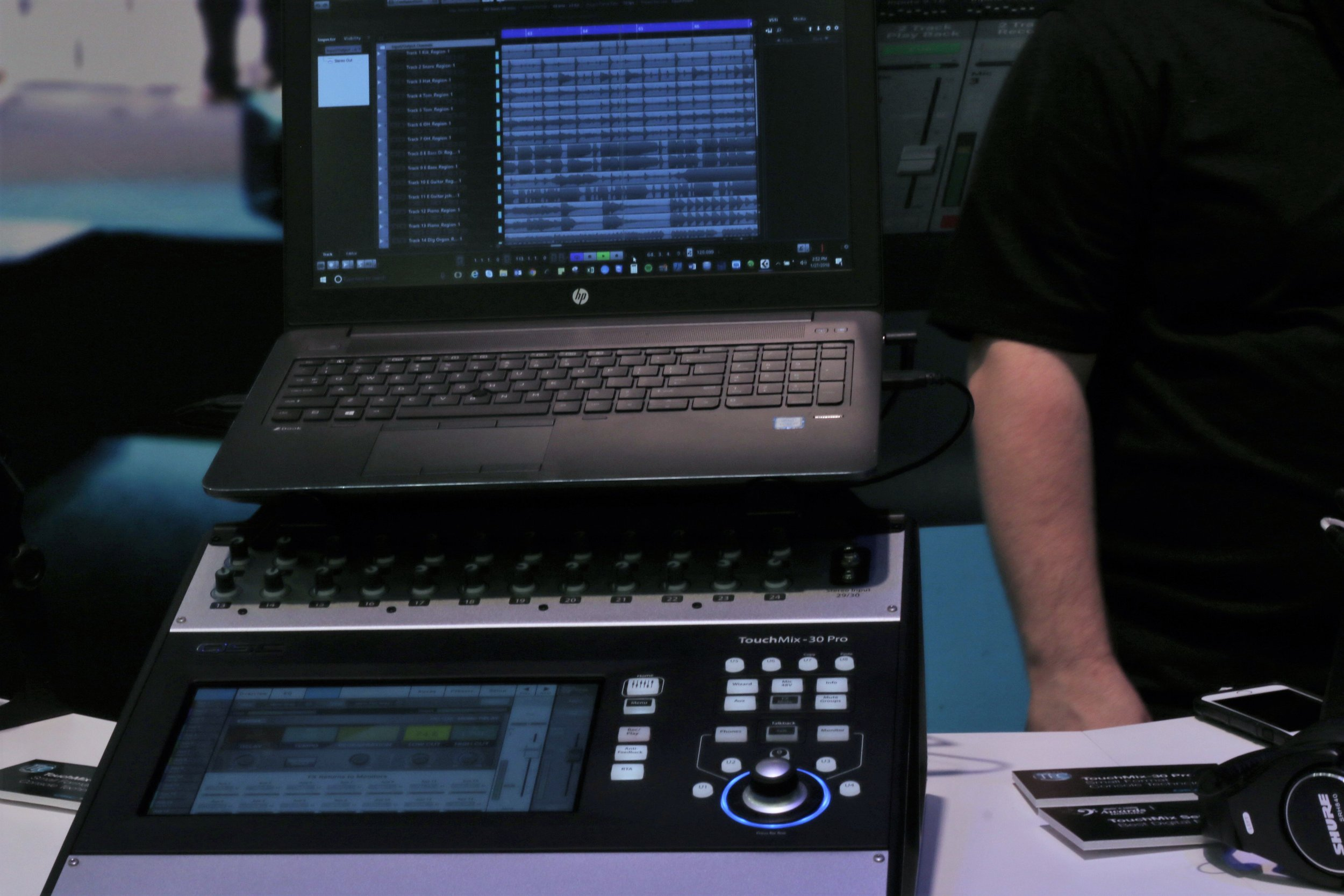 Intel Setup with Digital Mixer NAMM 2018  Photo by: Helen Velez