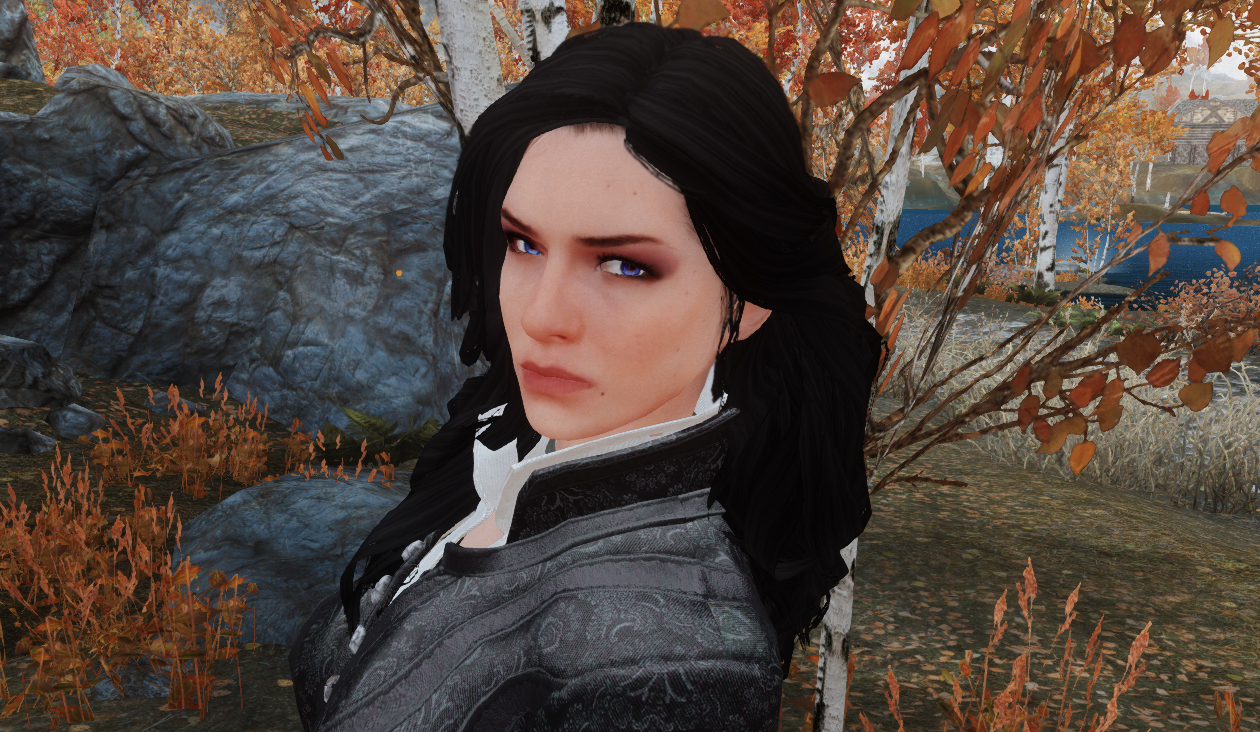 OoO yeah...Yennefer in Skyrim!