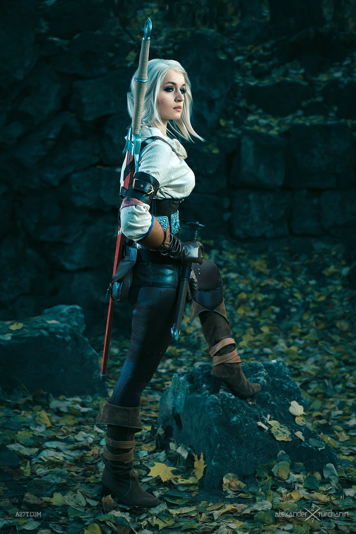 A Cosplayer fantastically portraying Ciri.  http://pixalry.io/post/120381727829/the-witcher-3-ciri-cosplay-by-love-squad