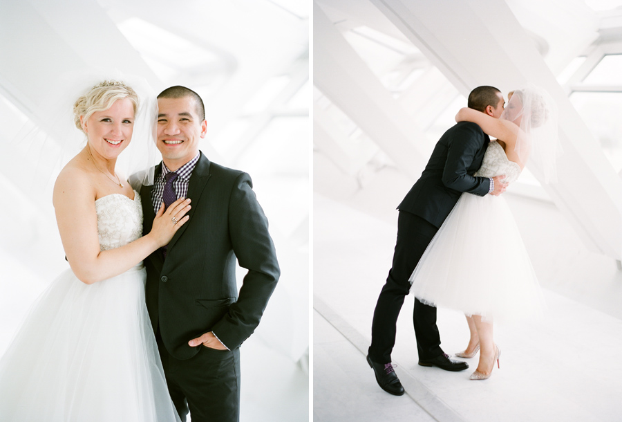 milwaukee art museum wedding first look