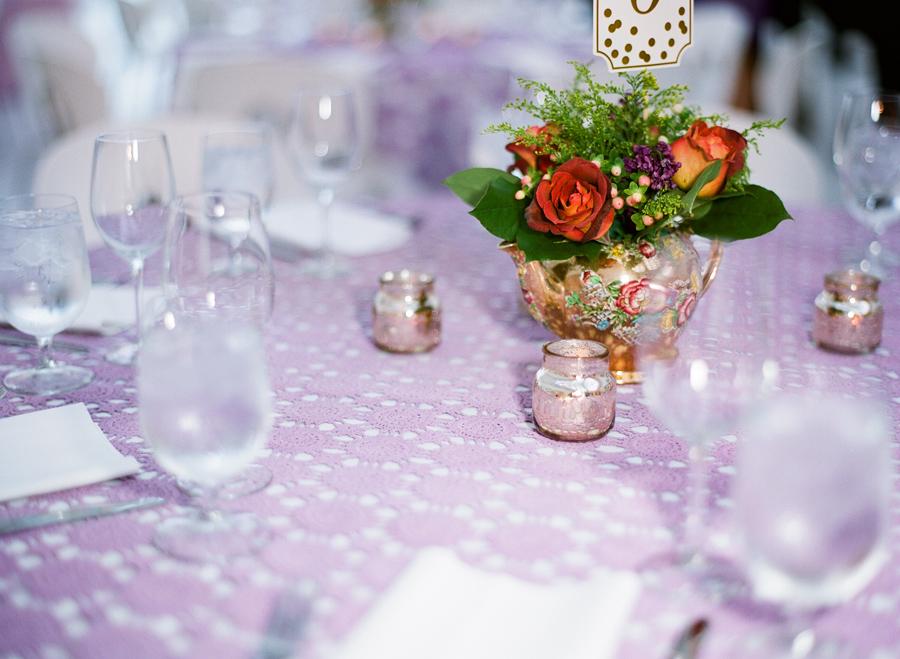milwaukee art museum wedding purple reception