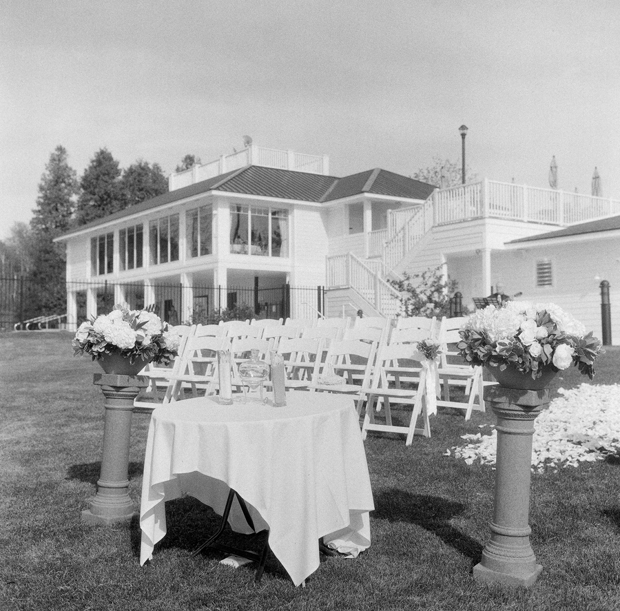 horseshoe bay beach club wedding ceremony