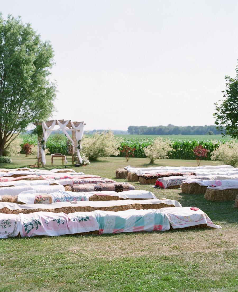 bennet barn wedding outdoor ceremony