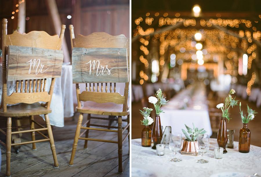 bennet barn wedding reception decor
