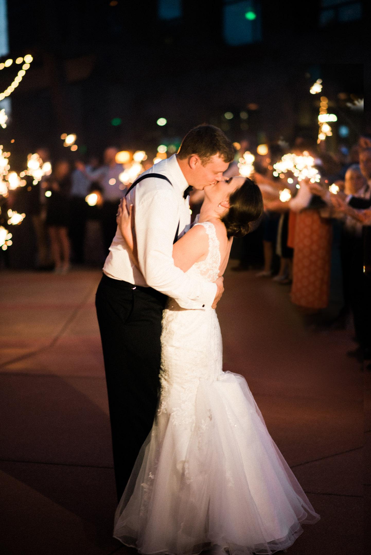 sentry world wedding sparkler exit