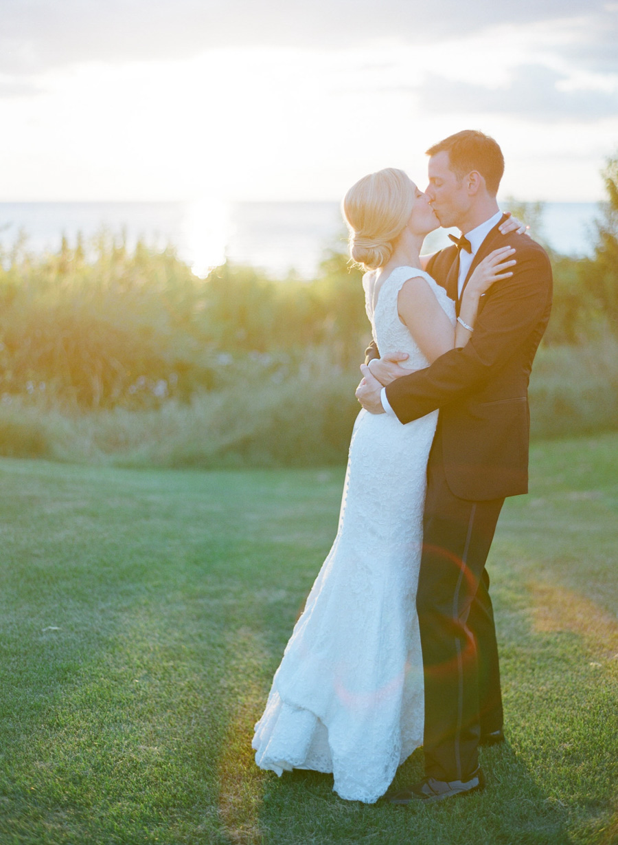 horseshoe bay beach club sunset wedding portraits