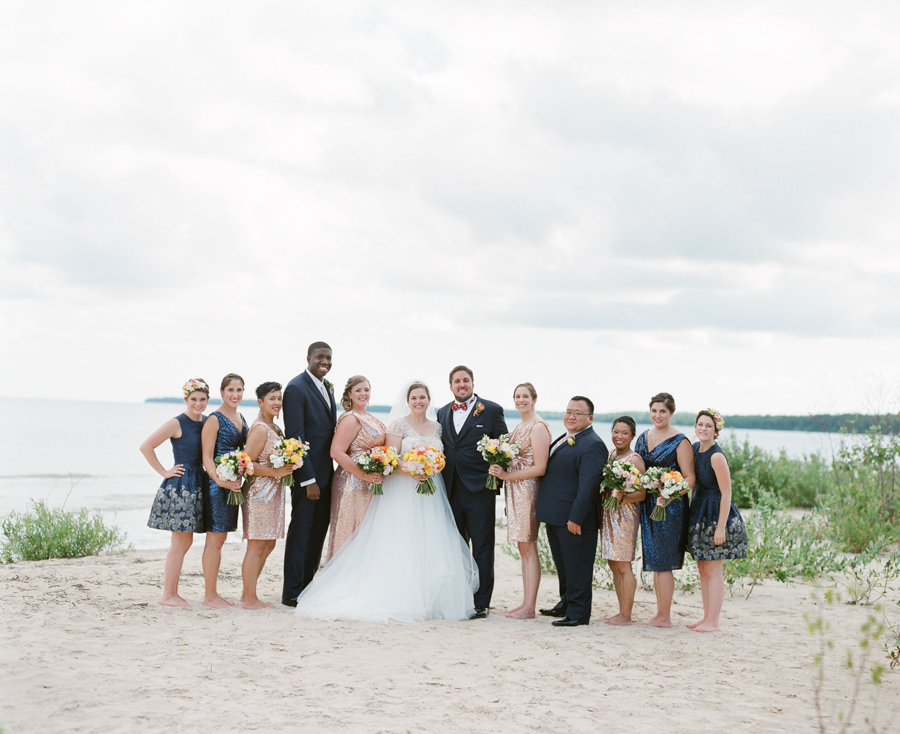 door county weddings on the beach