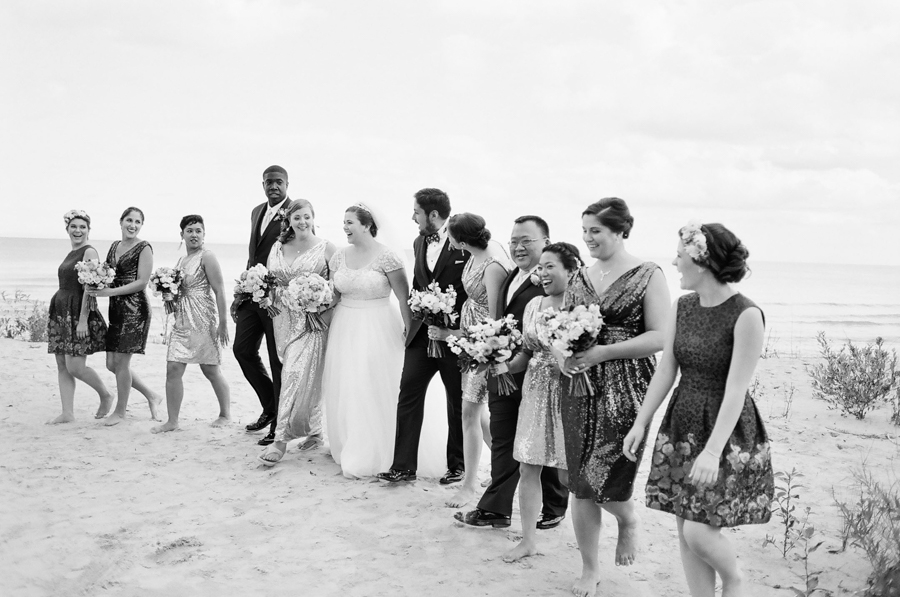 door county jacksonport beach bridal portraits