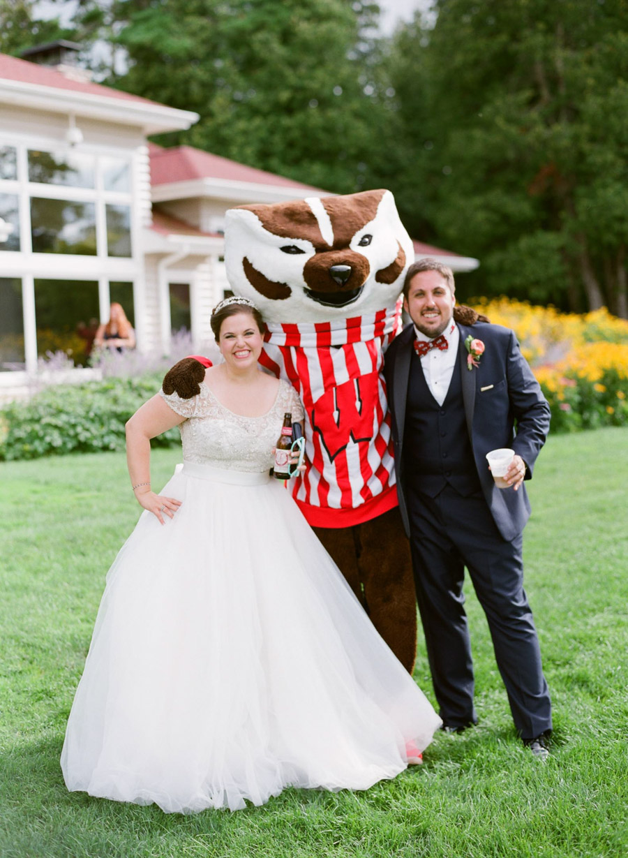 bucky badger door county wedding reception