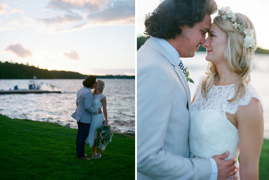 door county weddings sunset portraits at gordon lodge