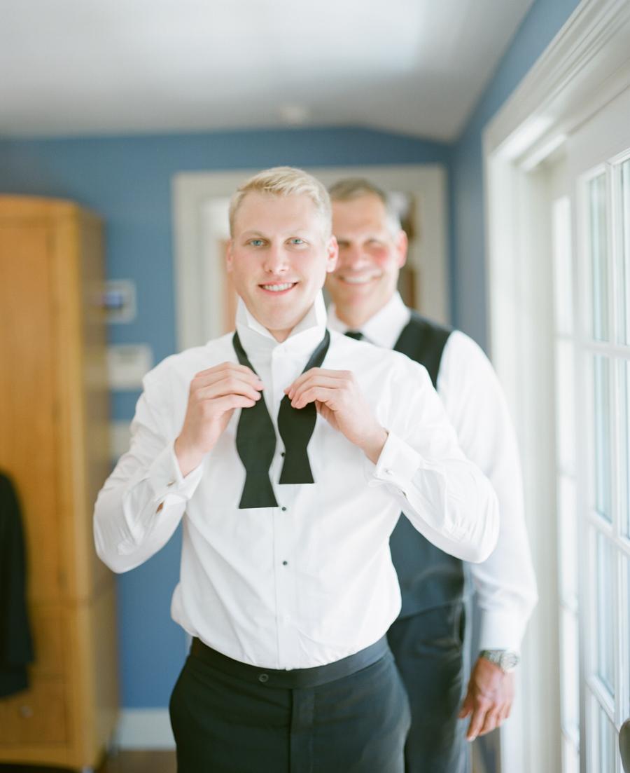 wausau wedding groom getting ready