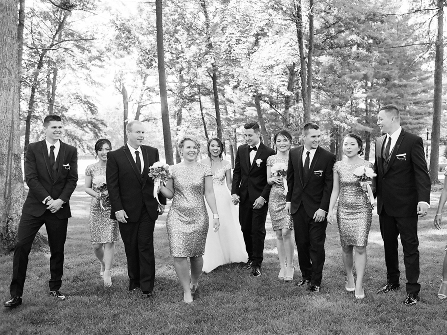 sentry world wedding party portraits