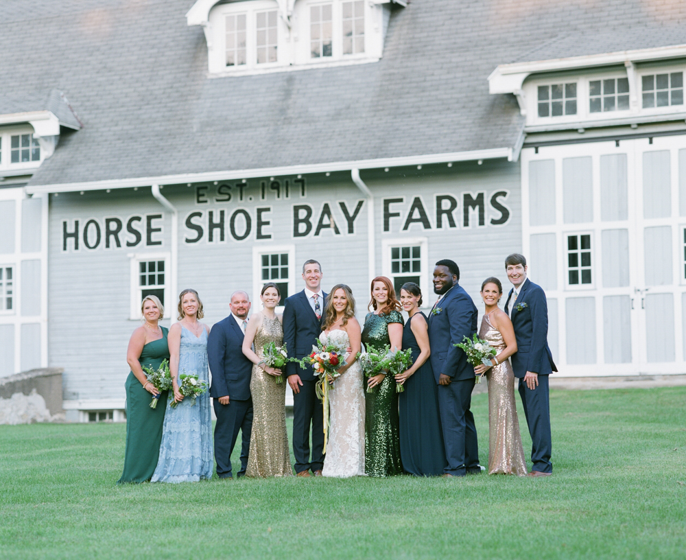horseshoe bay farms wedding portraits by the barns in door county