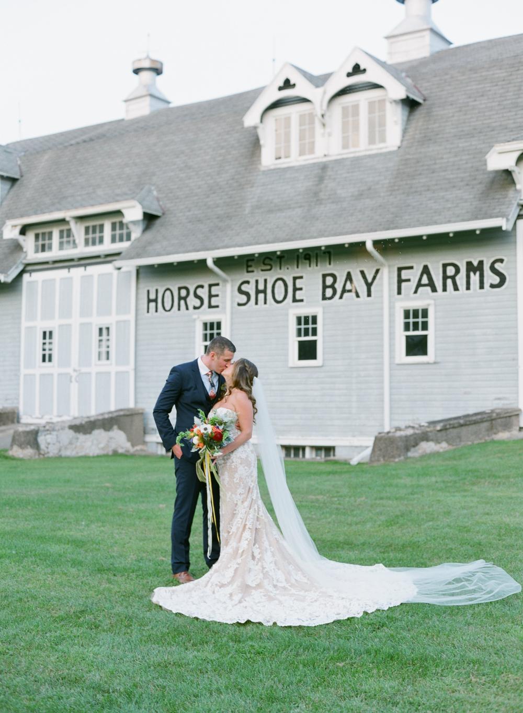 horseshoe bay farms wedding portraits by the barns