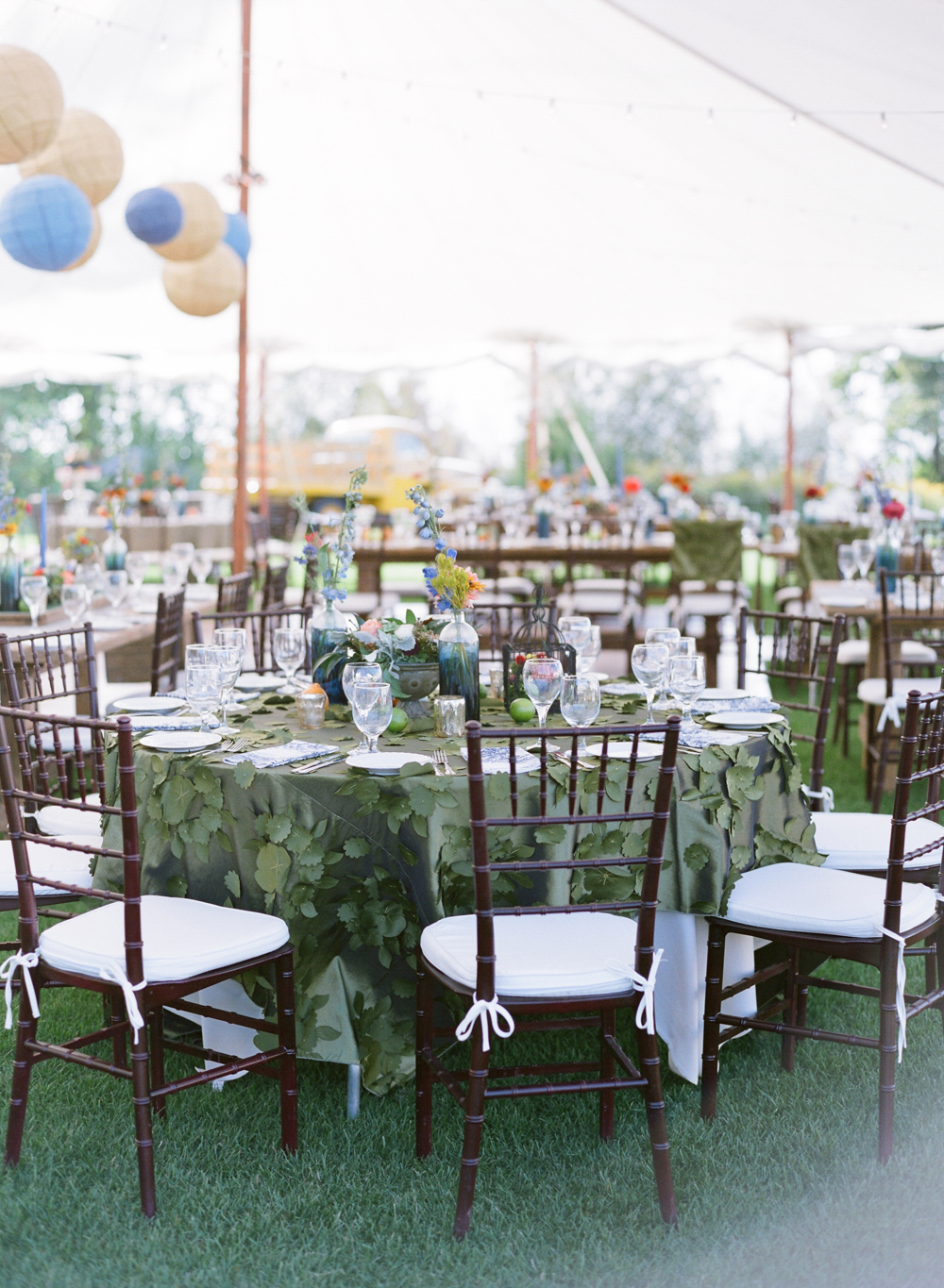door county weddings with sail cloth tents