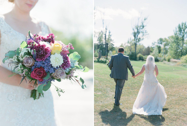 flora flowershop fall wedding bouquet