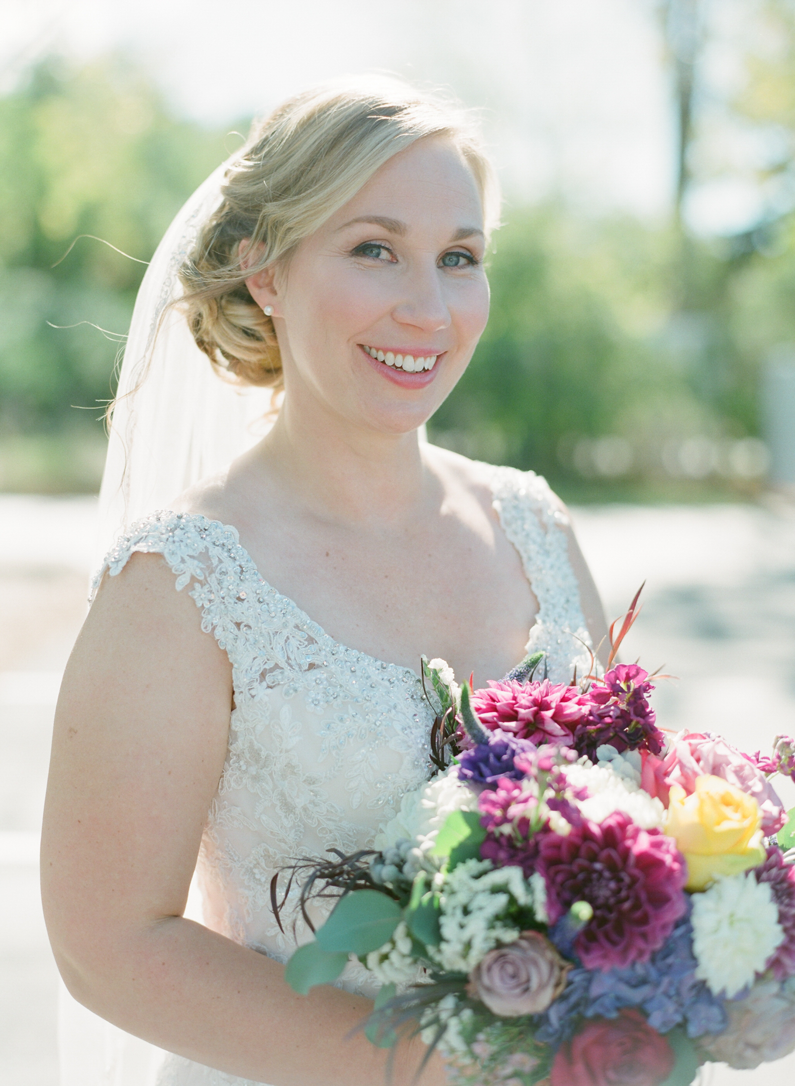 door county bride portrait at horseshoe bay beach club