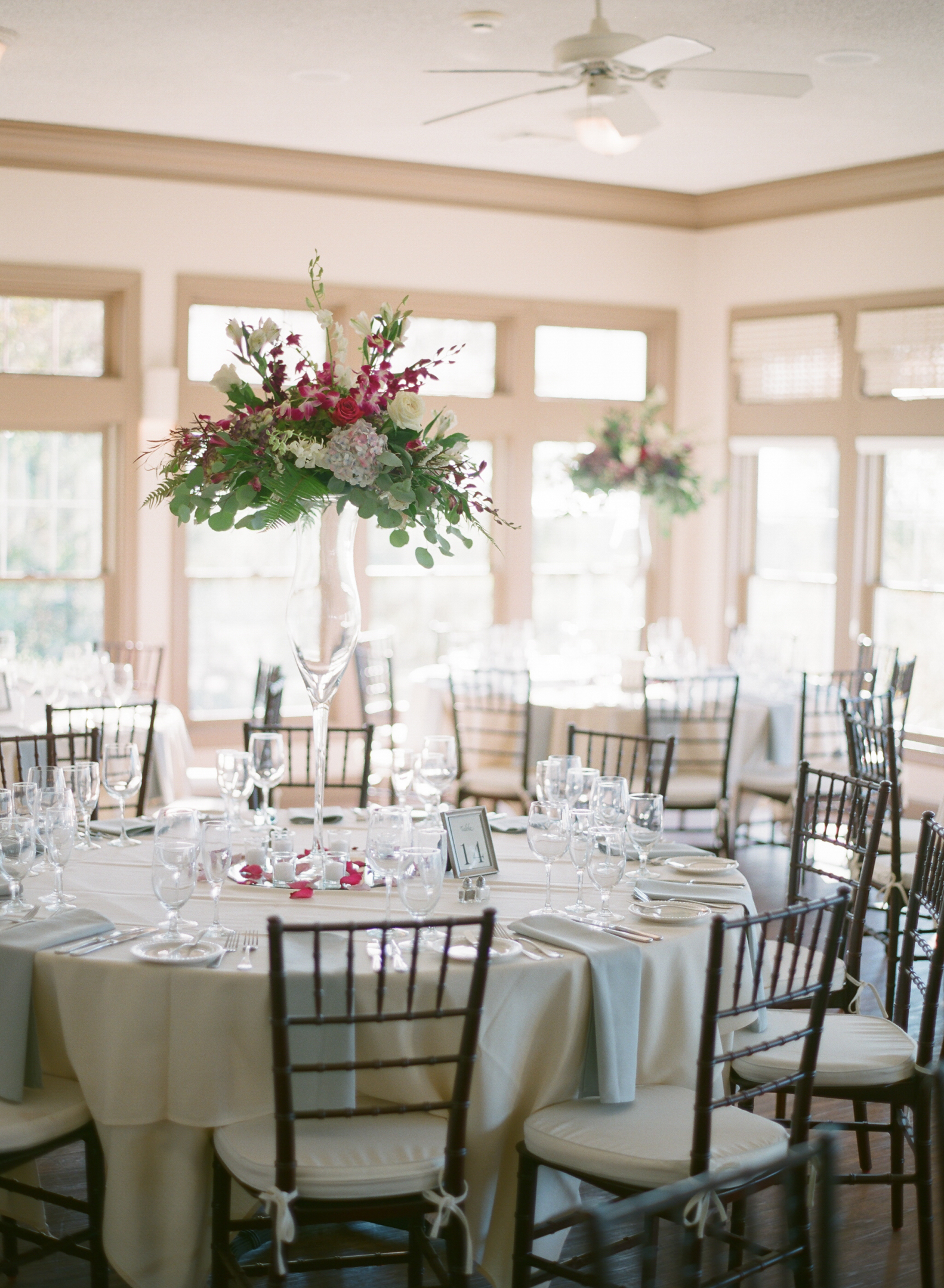 fall wedding reception centerpieces by Door County Event Planners
