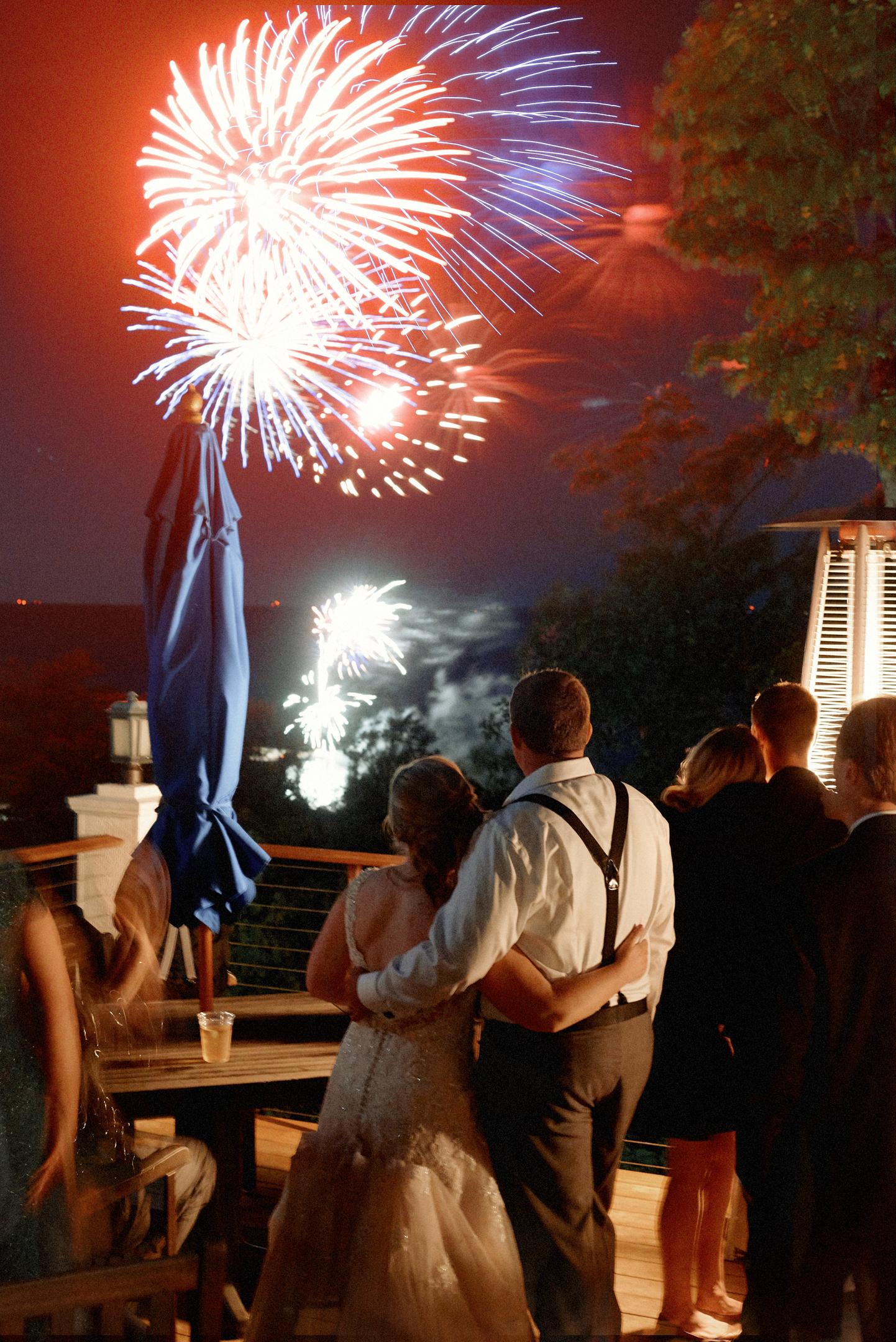Fireworks at Horseshoe Bay Golf Club door county wedding