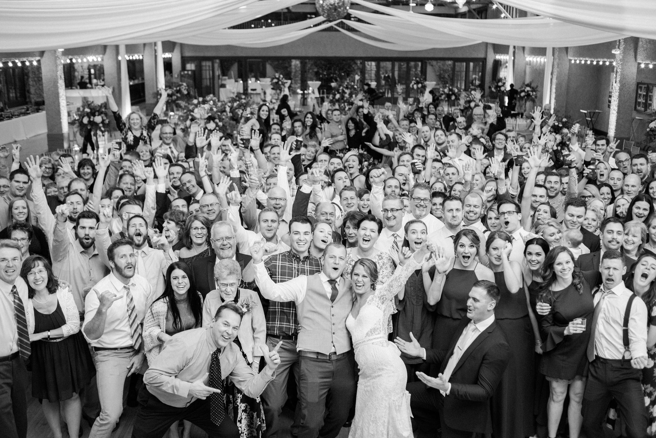 wedding reception at Rothschild Pavilion in WI