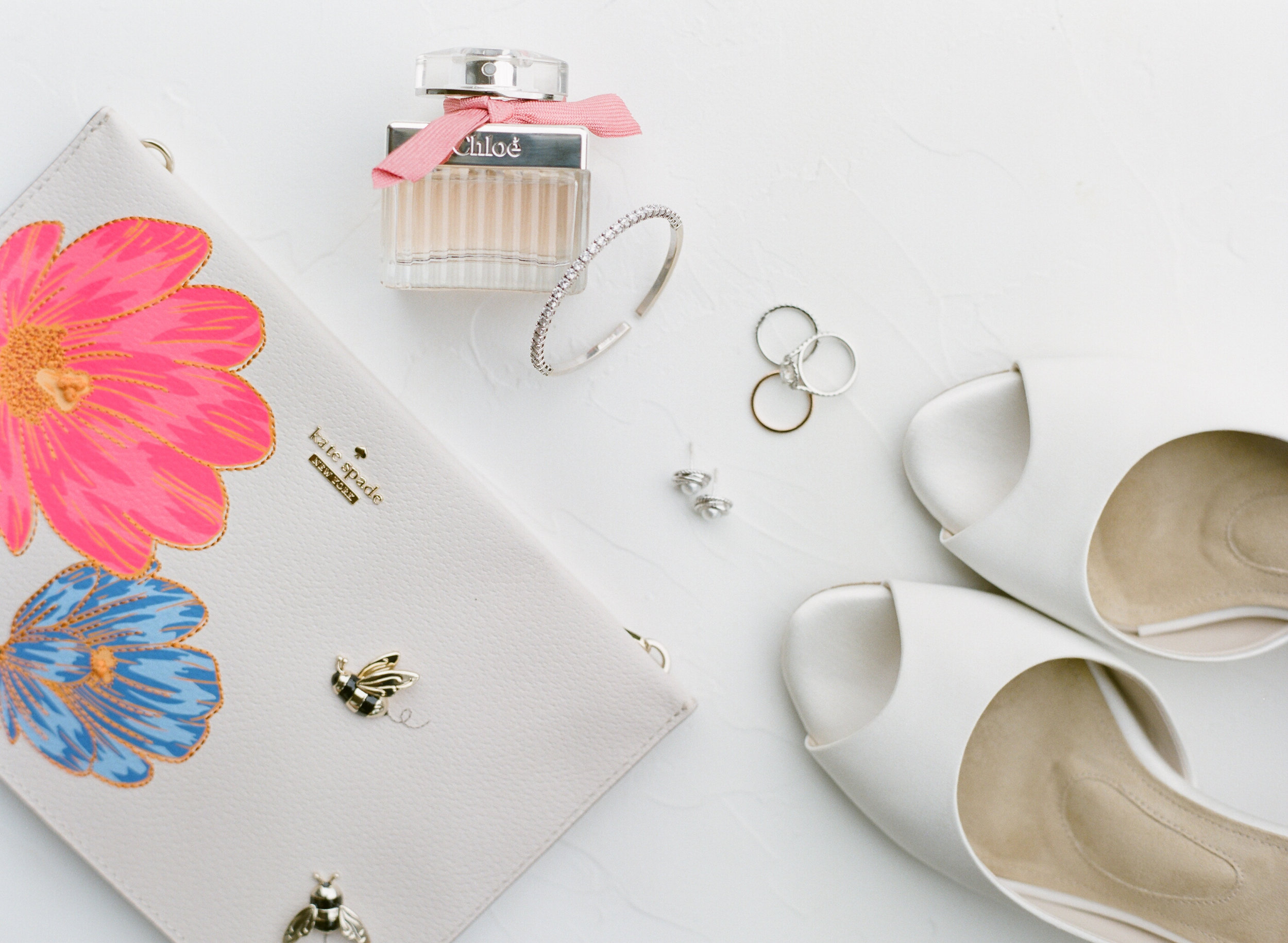 Kate Spade wedding clutch playful and colorful