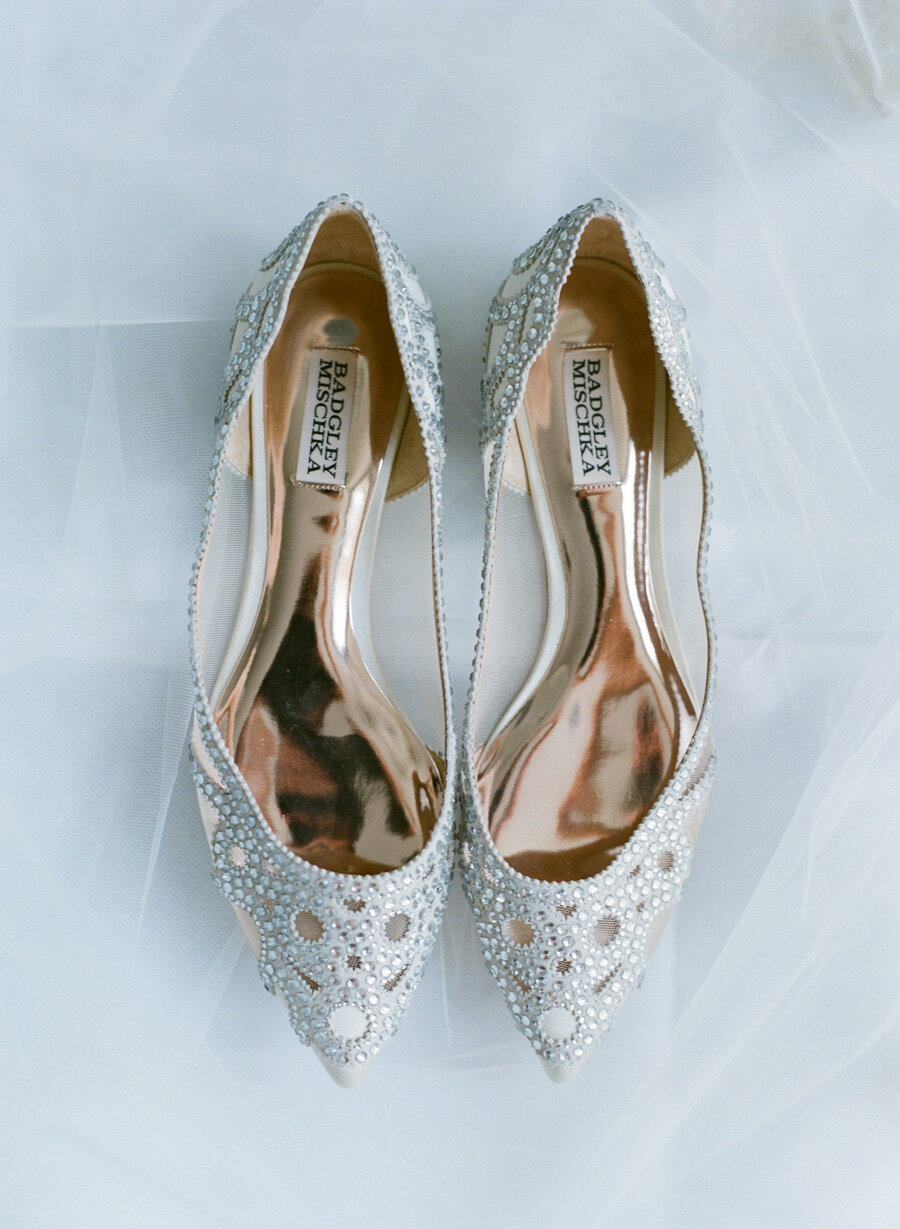 Badgley Mischka wedding shoes door county