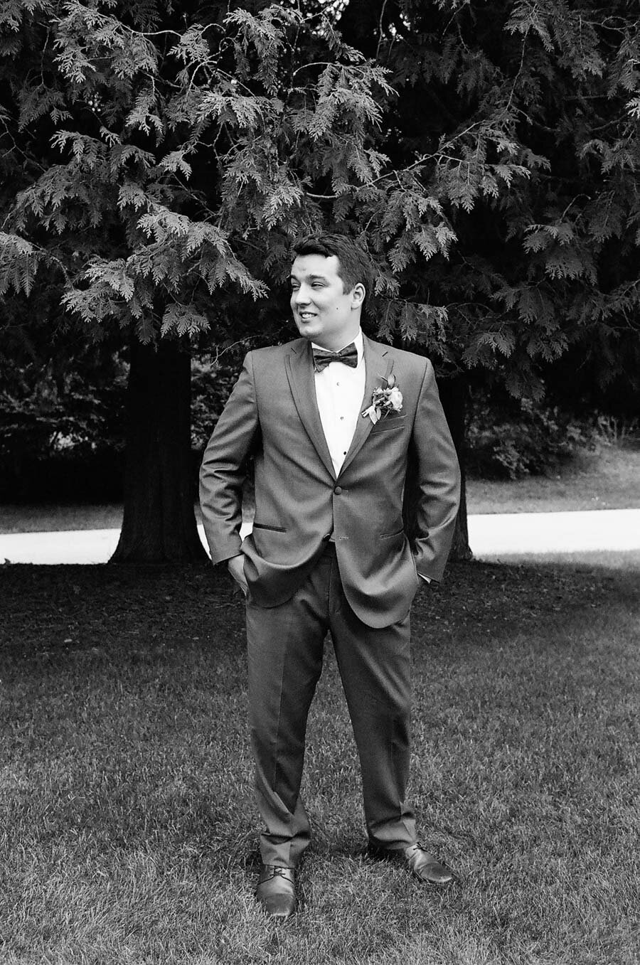 Groom Vera Wang Tuxedo Door County