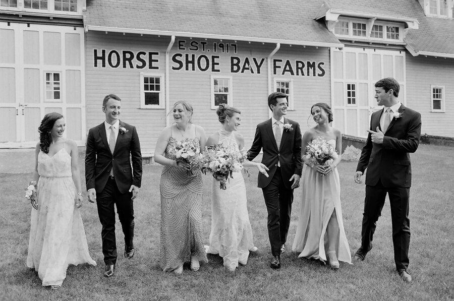 Wedding Party portraits at Horseshoe Bay Farms