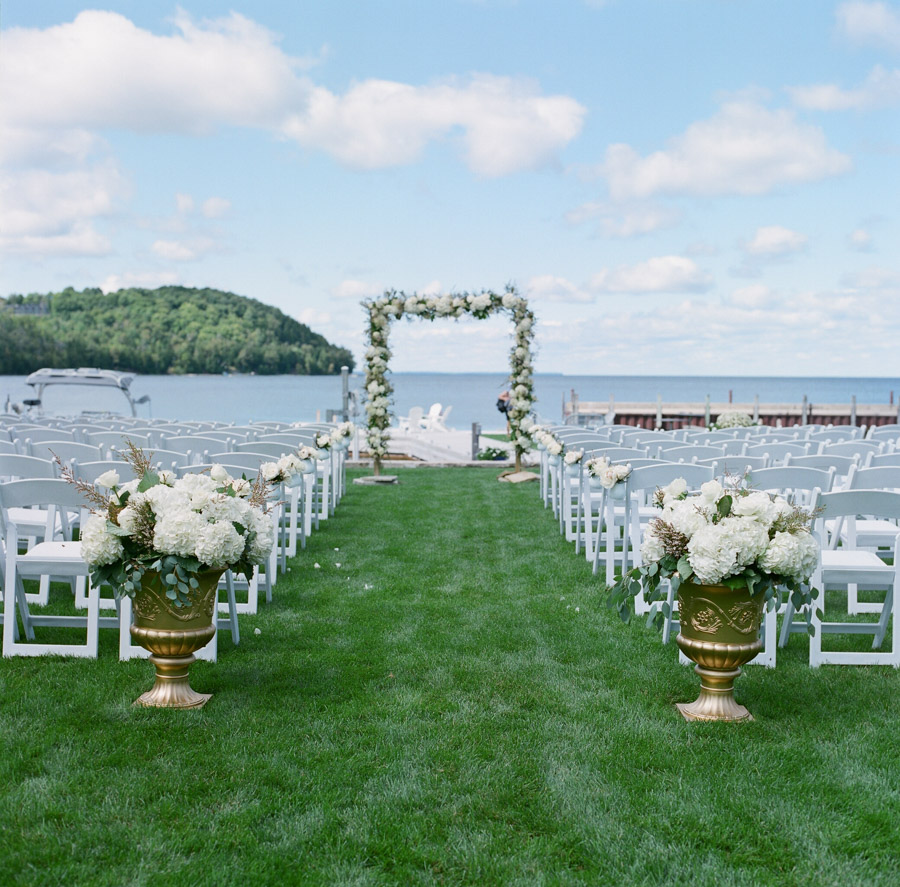sister bay door county wedding ceremony on the water
