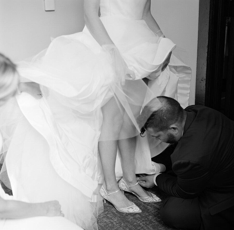 Bride getting ready Mike Gallagher Wedding