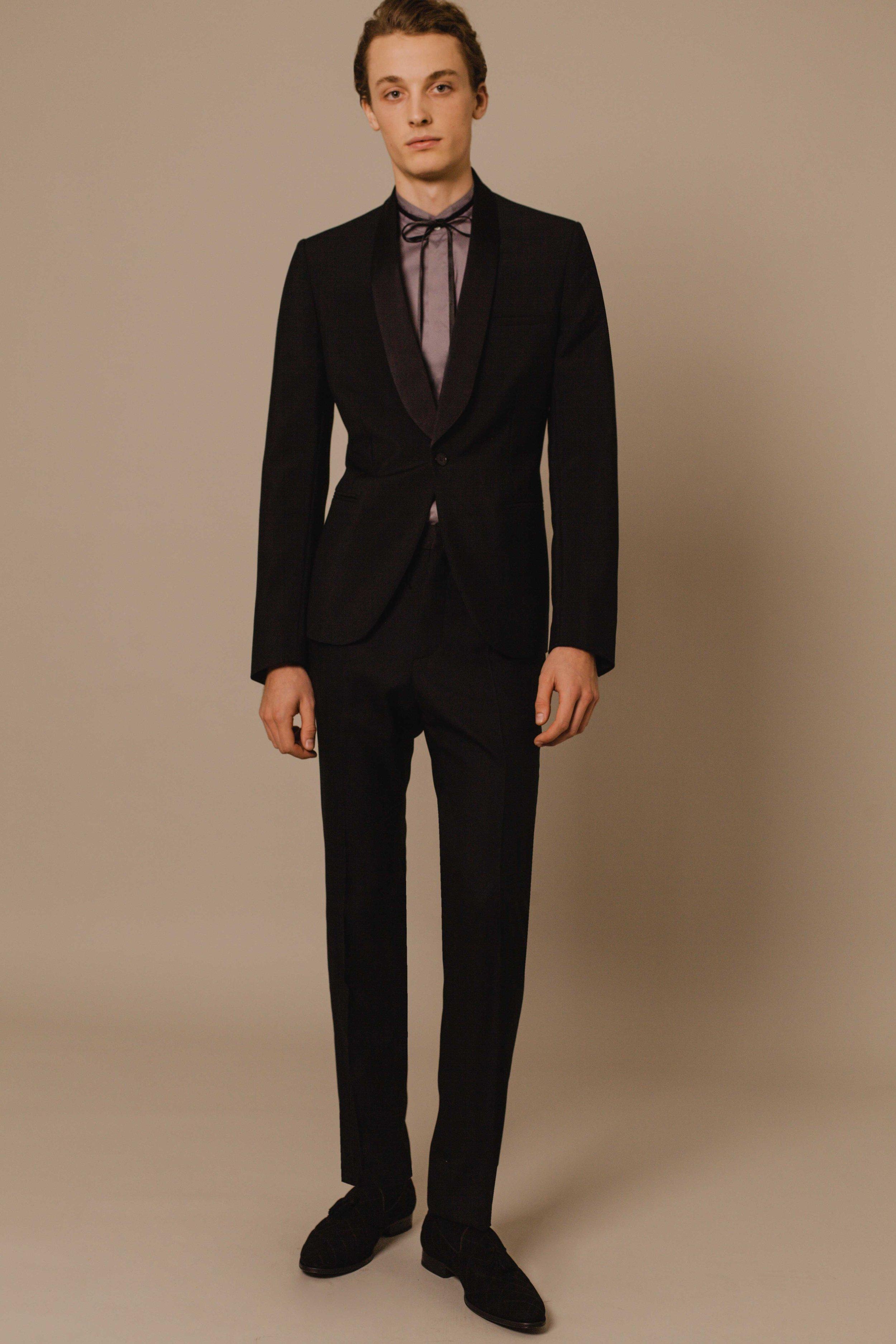 Shawl tuxedo black  Made in England  Bombay shirt with silk ribbon Made in Italy