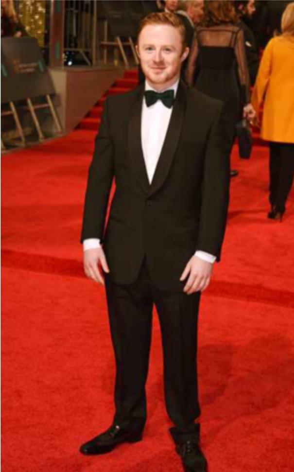 BAFTA NOMINEE CONOR MACNEILL SHAWL TUXEDO BLACK EE BAFTAS FEB 2017