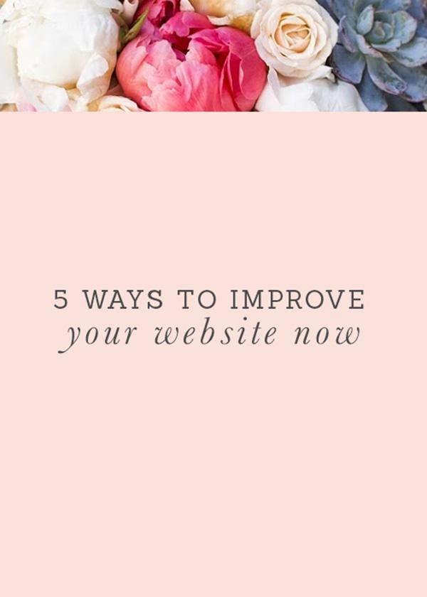 improve your website now