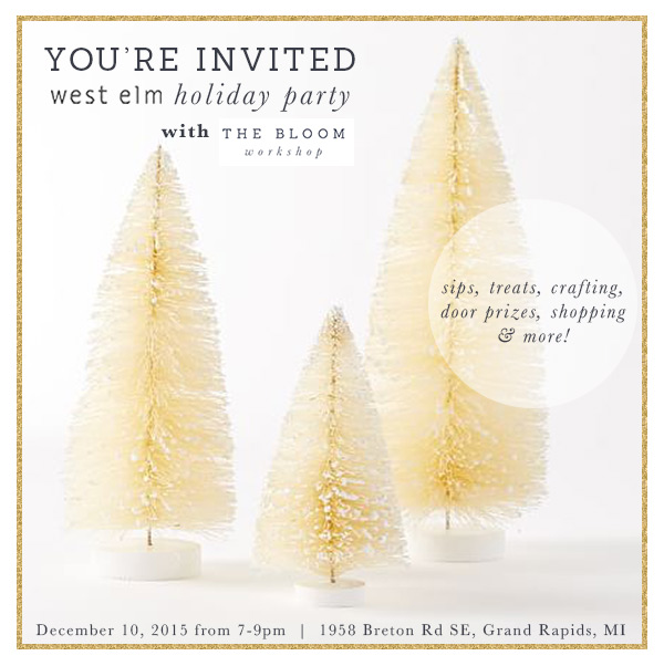 west elm holiday party