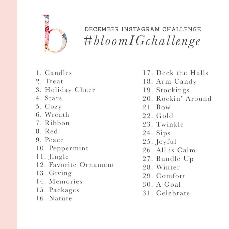 bloom instagram challenge