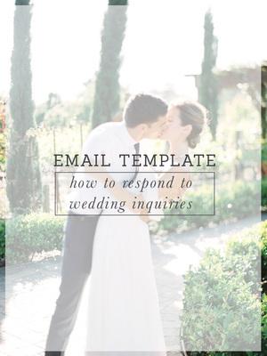 wedding photography inquiry