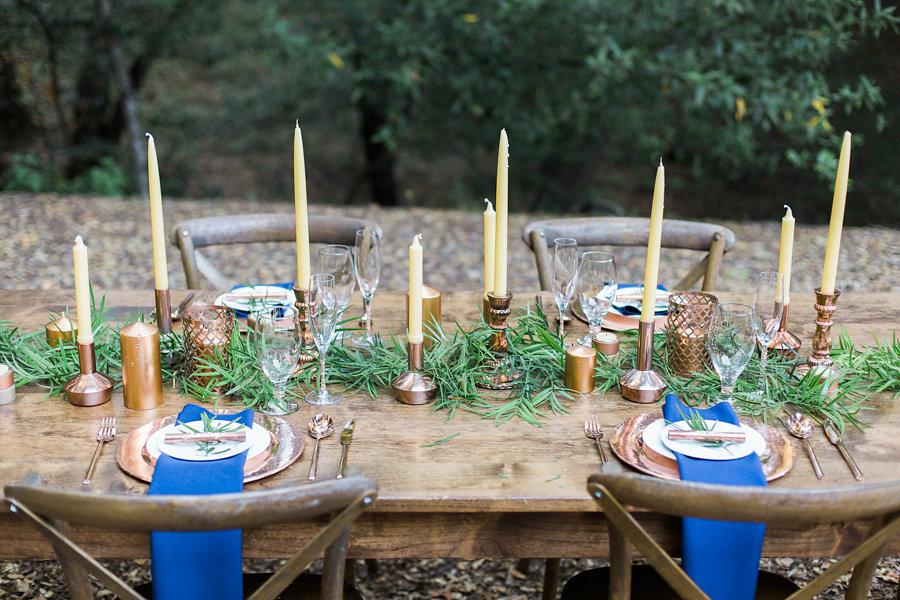 navy wedding table