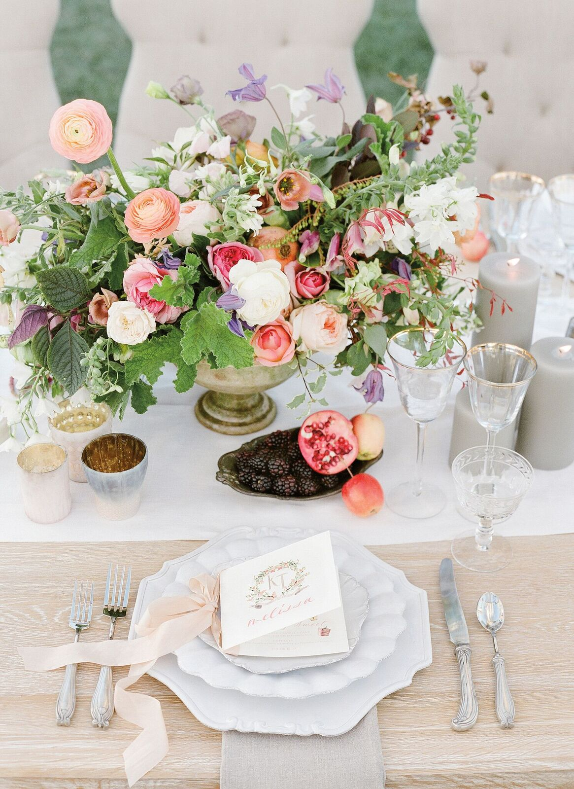 Jose Villa (This is Kim's own wedding with florals by Amy Osaba!)