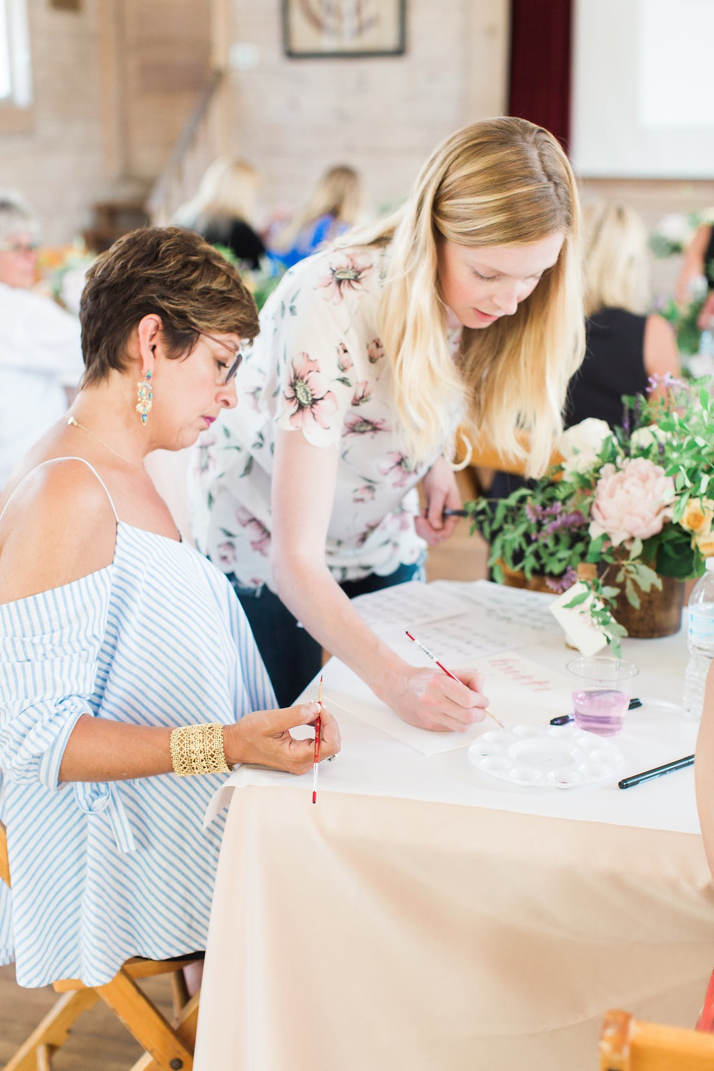 sable and gray calligraphy class