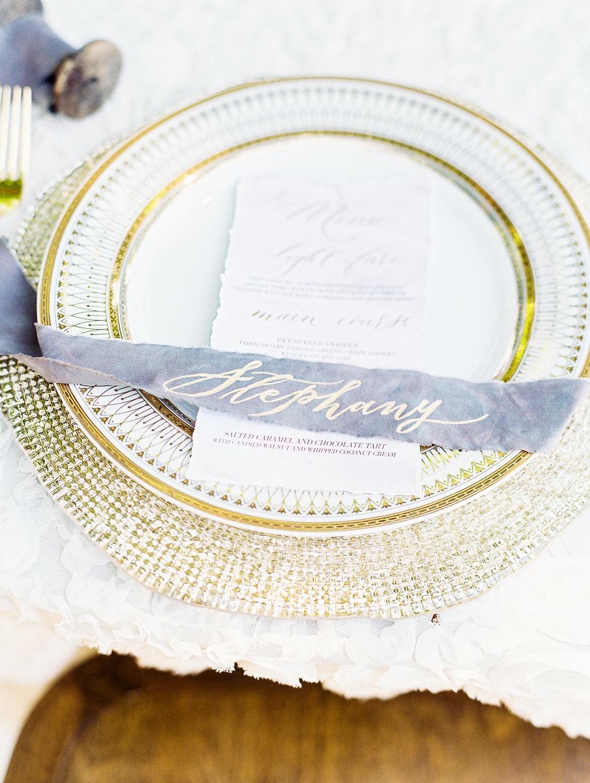 wedding ribbon escort card