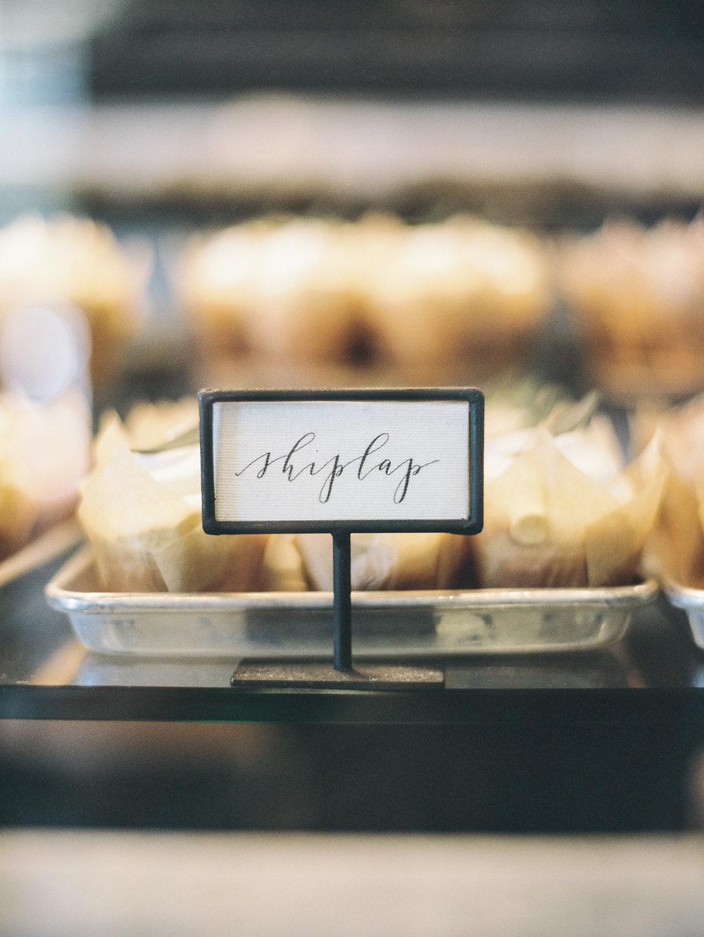 shiplap magnolia cupcake