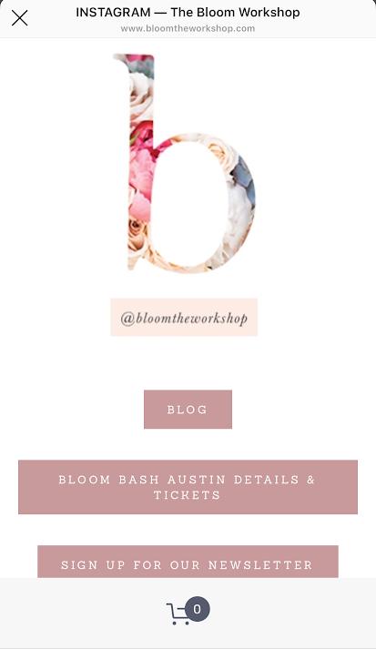 instagram page the bloom workshop