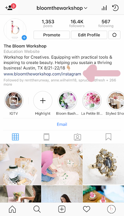bloom workshop instagram page