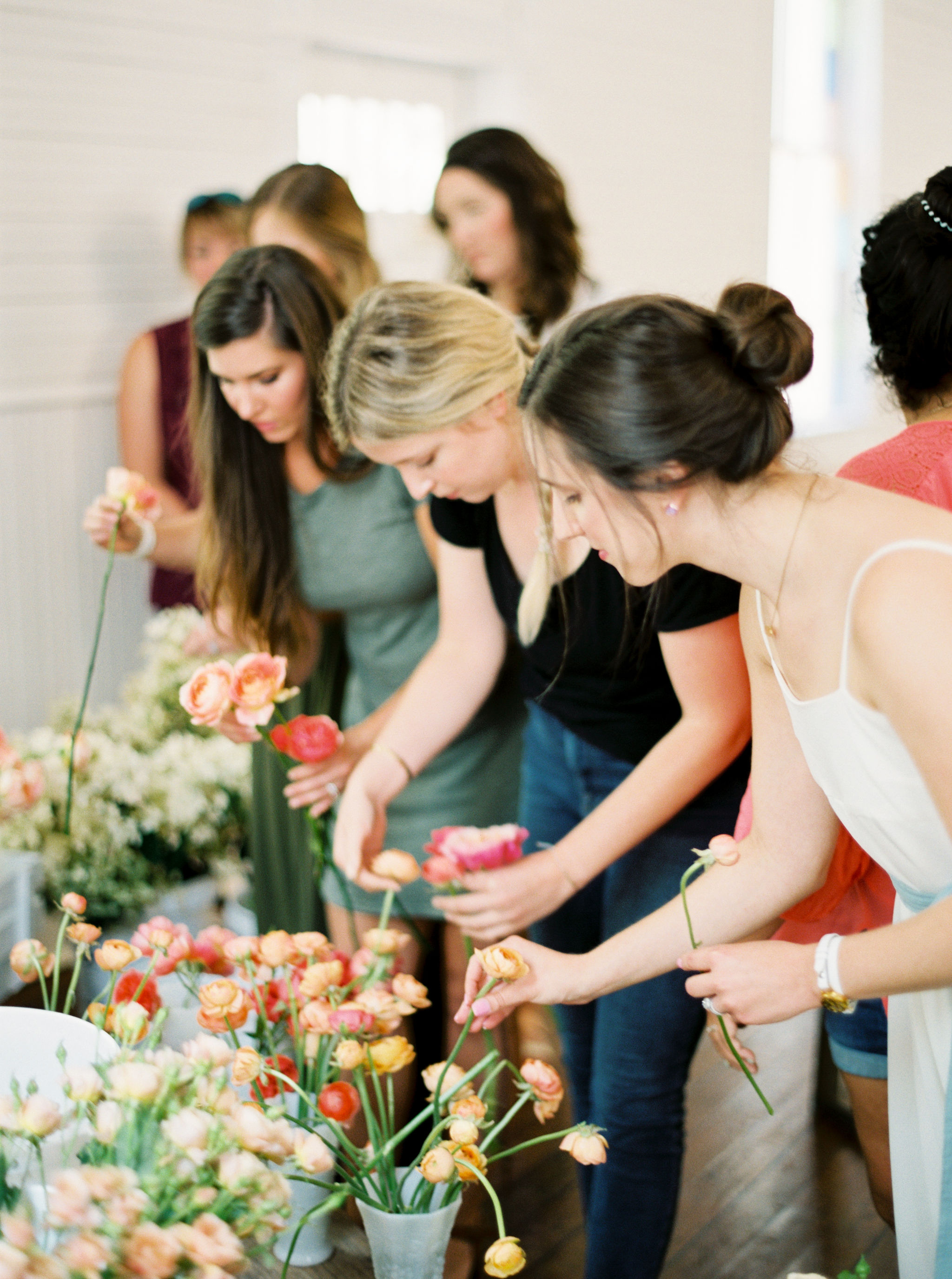 Bloom Bash Austin floral arranging