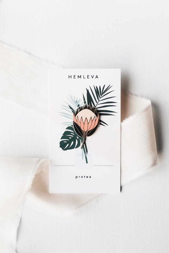 Protea Plant Pin